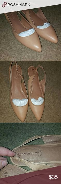 New size 10 flats New without tags Corso Como. Tagged as size 11 but fits a 10 more accurately.  Camel color. Corso Como Shoes Flats & Loafers