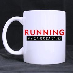 Awesome Running My Other Daily Fix style -11 ouncesbest Custom White Mug ** Check out this great image  : Cat mug