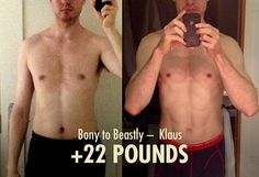 Klaus 22 Pound Ectomorph Weight-Gain Transformation Before & After Photo