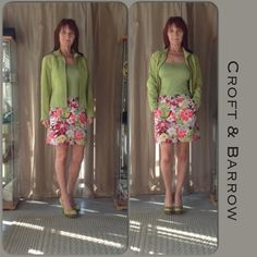 NWT CROFT & BARROW SKORTS New Croft & Barrow skorts in a tropical theme pattern fitting for an afternoon having fun in the tun whether travel or an event. The skorts have a zippered front, classic fit with white stretch liner shorts for better fit. These would be great for an afternoon of golf too! Several colors you could pull from the skort to style from. I opted to pull out the green with an apple greeen tank, apple green satin pumps & an apple green suede jacket! the The skort is the…