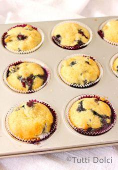 blueberry-mascarpone muffins   tutti dolci