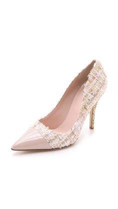 e191ecc6b2ba Kate Spade New York Lacy Tweed Glitter Heel Pumps