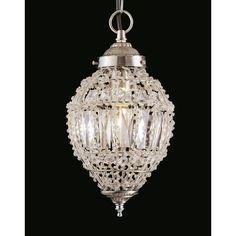 Impex Lighting 1 Light Crystal Chandelier