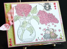 Pearls and Pink for Mousies! by LuvLee - Cards and Paper Crafts at Splitcoaststampers y