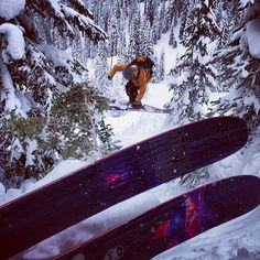 @Tim Durtschi captures @Nick Mcnutt sending it through the trees for our next ski film in @revelstokemtn. #newbentchetler @atomicski #Padgram