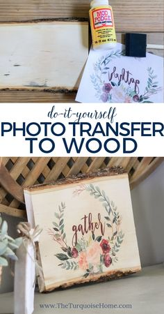 Ho to DIY photo transfer to wood with a free printable!