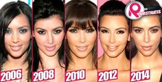 Kim Kardashian before & after