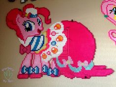 MLP Grand Galloping:Gala: Pinkie Pie perler beads by PerlerzByRex on deviantART