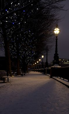 South Bank Snow, London..