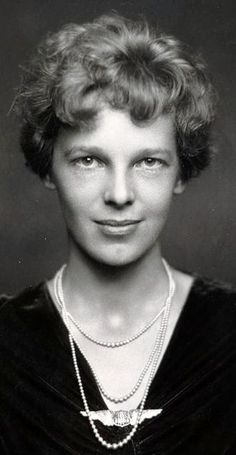 The lovely aviatrix Amelia Erhart