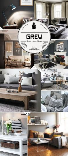 Color Choices: Grey Living Room Ideas and Designs Those sweater pillow look so cozy!