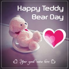 Happy Teddy Day Images, Happy Teddy Bear Day, Happy New Year Images, Cute Teddy Bears, Cute Love Couple, Cute Love Songs, Teddy Day Pic, Write Name On Pics, Dance Wallpaper