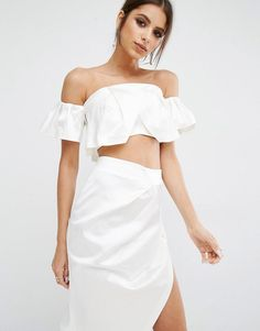 Kendall & Kylie | Kendall + Kylie Ruffle Bandeau Top at ASOS