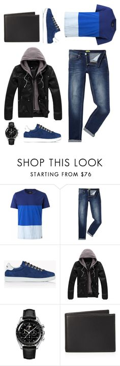 """""""Untitled #59"""" by majafashionlover ❤ liked on Polyvore featuring Versace, Dsquared2, The Men's Store, men's fashion and menswear"""