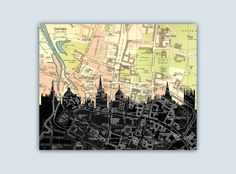 Oxford Skyline, Oxford England Print, Personalized Skyline Print, Oxford Decor, Oxfod Map, Oxford Wall Art, Oxford Poster, Engagement Gift by GeographicArt on Etsy