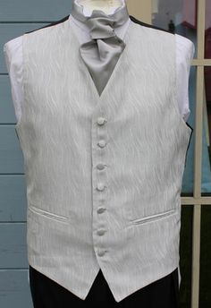 SILVER CRINKLE WEDDING WAISTCOAT 38 40 42 44 46 48 50 52 54 & BOYS WC59 Wedding Waistcoats, Crinkles, Groom, Vest, Boys, Silver, Jackets, Stuff To Buy, Clothes