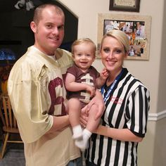Parents wear a ref's jersey to the bday party.  They will stand out for sure!