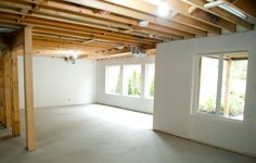 Awesome Painted Basement Ceilings Basement Pinterest