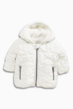 Buy Cream Star Quilted Jacket (0-18mths) from the Next UK online shop