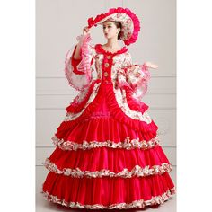 Global Freeshipping 18th Century Medieval Marie Antoinette Costume Hearty Hot !! Home