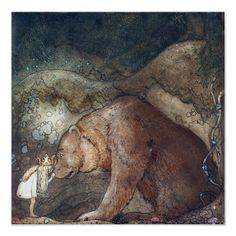 """The painting in Dani's room is done by the Swedish artist """"John Bauer"""" John Bauer, Melencolia I, Bear Paintings, Picture Boxes, Reproduction, Canvas Prints, Art Prints, Big Canvas, Tattoo Ideas"""