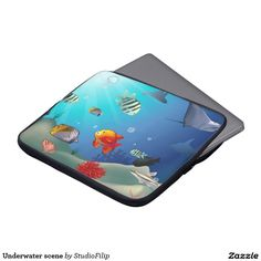 Underwater scene computer sleeve