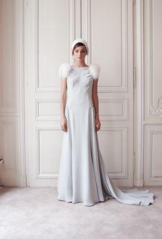 "Delphine Manivet - Wedding dress designer Paris : ""Turtledove"" Winter Dress"