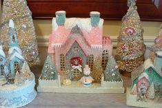 Putz-style Glitter Houses