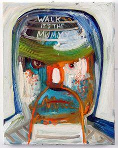 Nicole Eisenman  Walk It's the Mummy  2006  Oil on canvas  14 x 11 in (35.6 x 27.9 cm)