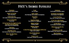 The perfect playlist for a Gatsby themed after party Great Gatsby Party, Gatsby Themed Party, Nye Party, 1920 Theme Party, 1920s Party Decorations, Oscar Party, Prohibition Party, Speakeasy Party, Speakeasy Decor