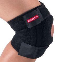 2 Pcs Kuangmi Arthritis Knee Brace Support Sports Knee Pads Basketball Open Patella Band Adjustable Wraps Bandage Knee Protector