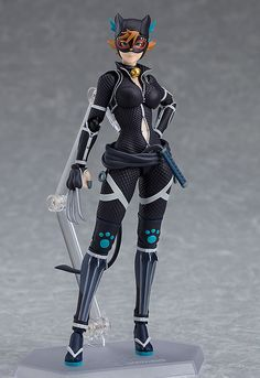 """The elusive thief is now a figma! From the anime """"Batman Ninja"""" comes a figma of Catwoman! The smooth yet posable figma joints allow you to act out a variety of different scenes. A flexible plastic is used in specific areas, allowing . Catwoman Cosplay, Ninja Action Figures, Tracer Cosplay, Anime Shop, Batman Ninja, Anime Ninja, Anime Warrior, Tokyo Otaku Mode, Mode Shop"""