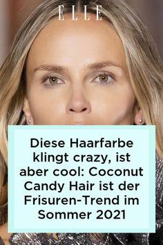 Coconut Candy Hair?! Klingen wild. Doch hinter der Haarfarbe steckt ein Frisuren-Trend für den Sommer 2021, der sofort Frische in die Haare bringt! #beauty #haut #hautpflege #skincare