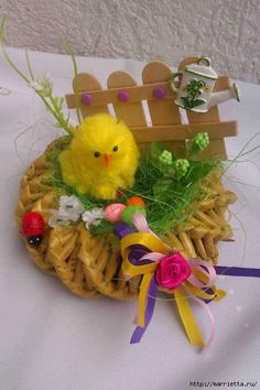 Velikonoční dekorace Projects For Kids, Diy Projects, Place Mats Quilted, Newspaper Crafts, Topiary, Easter Crafts, Easter Eggs, Diy And Crafts, Origami