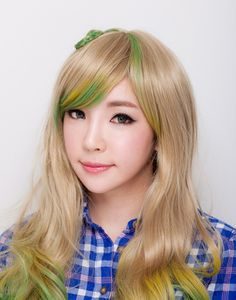 Blonde Green Hair Blonde-hair-with-yellow-and-