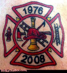 firefighter tattoo - StrikeTheBox.com
