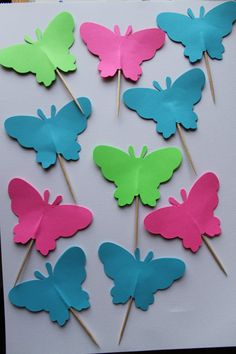 Butterfly Cupcake Toppers and Confetti Set by ahindle78 on Etsy, $8.00