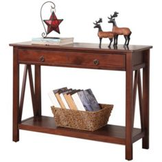 Benchwright Console Table, Rustic Mahogany Stain | Console Tables, Consoles  And Room