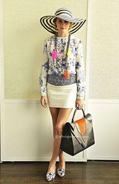 Zara-White-Jacquard-Blue-Needlepoint-Panel-Mini-Medium-w-Olivia-Palermo-article
