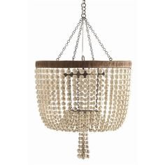 Beaded Chandelier ... no tutorial... but this looks like it could be pretty easy, and you could use old mardi gras beads!