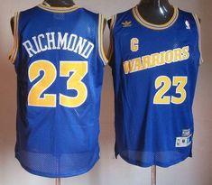 e8c8c5fd3 Warriors  23 Mitch Richmond Blue Throwback Stitched NBA Jersey Nba Golden  State Warriors