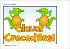 Crocodile class group signs (SB9549) - SparkleBox