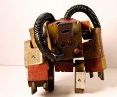Robots hechos con madera reciclada ( 22 imagenes)   Quiero más diseño