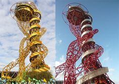 Olympic Park Orbit to the painted gold if England win the world cup!