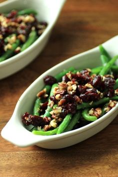 Green Beans with Pecans and Cranberries | 20 QUICK AND EASY RECIPES FOR THANKSGIVING IN UNDER 30 MINUTES