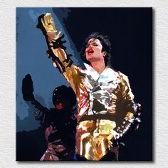 Hot selling oil painting Michael Jackson canvas wall art pictures on the wall decoration pop art for friends gift