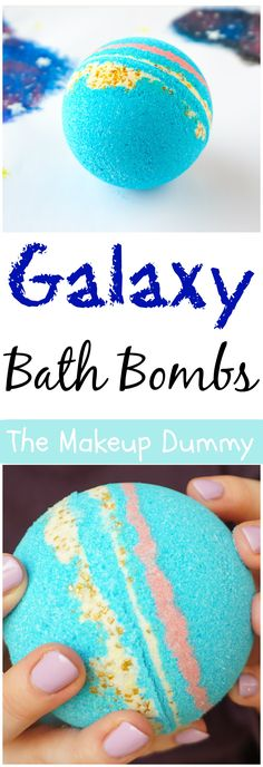 DIY Galaxy Bath Bombs + video tutorial - Nikki Frey - DIY Galaxy Bath Bombs + video tutorial How To make Intergalactic Galaxy Bath Bomb Fizzies inspired by LUSH - it's easy, cheap and fun to make yourself! Tutorial by The Makeup Dummy - Mason Jar Crafts, Mason Jar Diy, Diy Hacks, Homemade Beauty, Diy Beauty, Beauty Tips, Beauty Hacks, Beauty Solutions, Diy Galaxie