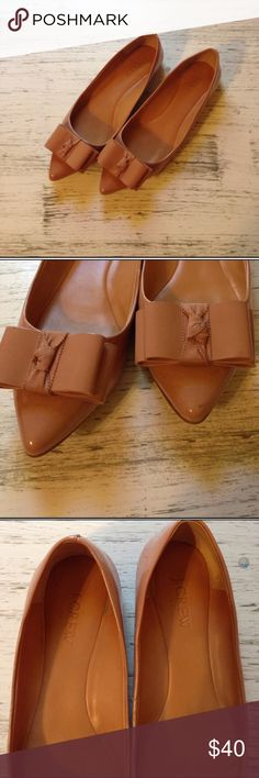CC•J. Crew• Nude Pointed Bow Flats Reposh. Too small for me. Sooo cute! Have them for sale in black as well. J. Crew Shoes Flats & Loafers
