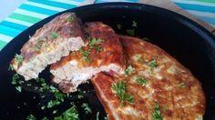 Tepsis bundáskenyér Kaja, Diet Recipes, French Toast, Pork, Chicken, Breakfast, Healthy, Kale Stir Fry, Healthy Diet Recipes