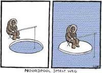 Fig. 4: Cartoon over het versterkte broeikaseffect